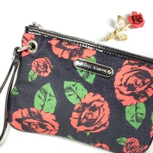 Betsey Johnson Roses Wristlet AND Rose Brooch Pin